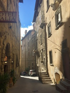 Cortona was entirely made of a stone structures and stone streets.